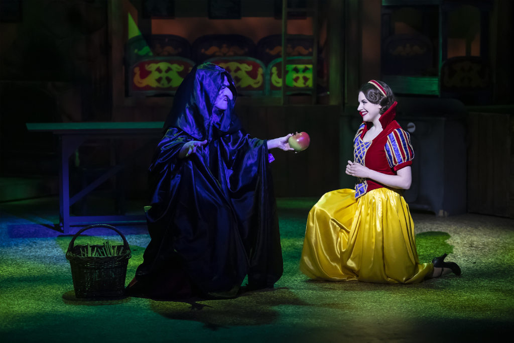 Production image from a previous production of Snow White & the Seven Dwarfs by Jordan Productions